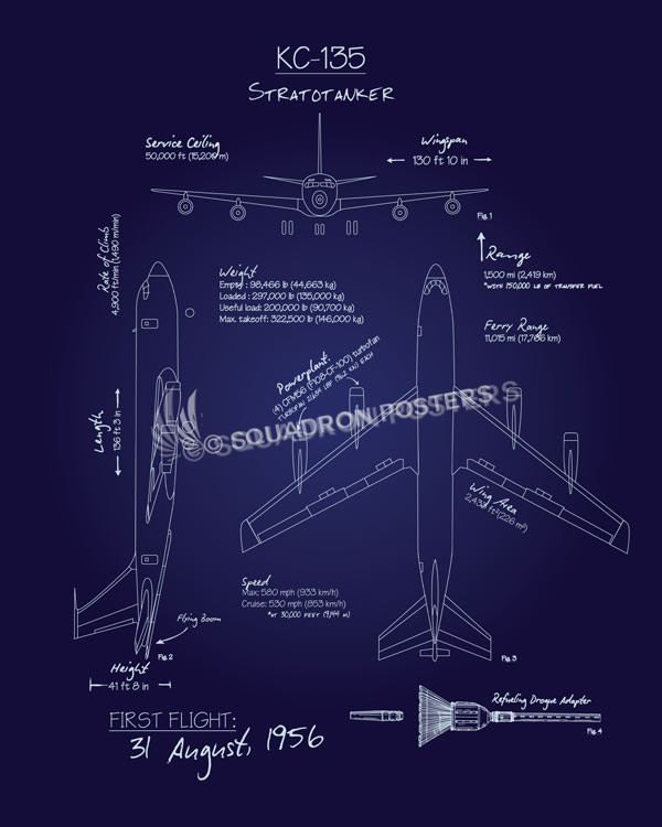 Kc 135 stratotanker blueprint art squadron posters kc 135 stratotanker blueprint kc 135stratotankerblueprintv2sp01247 featured aircraft lithograph vintage malvernweather Choice Image