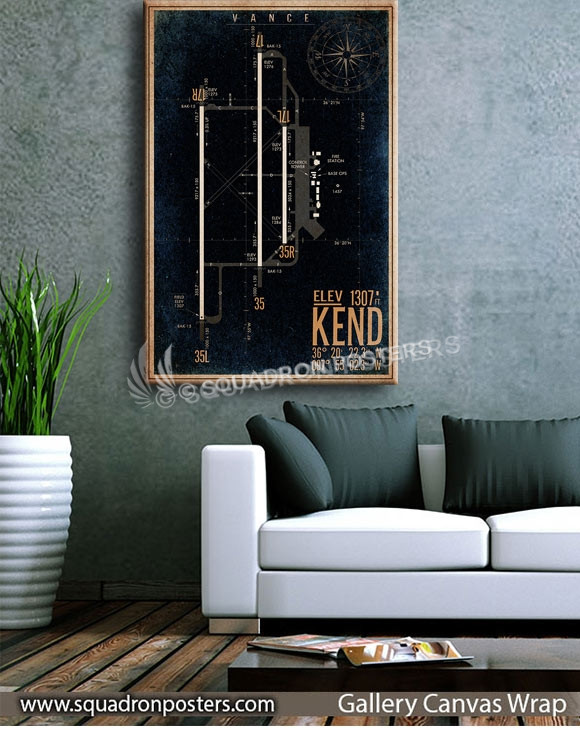 KEND_vance_afb_airfield_map_SP00890-squadron-posters-vintage-canvas-wrap-aviation-prints
