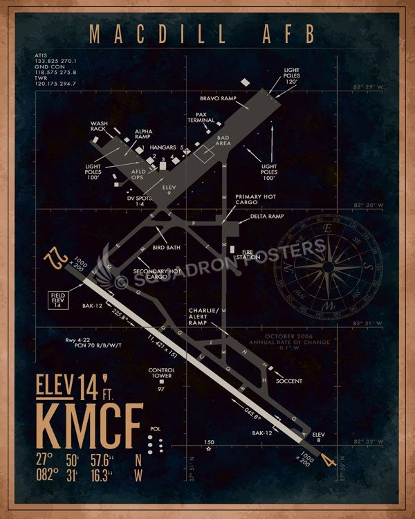 MacDill AFB KMCF Airfield Map Art on peterson afb map, vandenberg air force base, travis afb map, tyndall afb map, shaw afb map, tyndall air force base, eglin afb on map, air force bases in florida on map, luke air force base, macdill air, wright-patterson air force base, charleston air force base map, travis air force base, sheppard air force base, march afb map, offutt air force base, eglin air force base, macdill lodging, hurlburt field map, peterson air force base, dyess air force base, tampa map, moody air force base, hurlburt field, edwards afb map, nellis air force base, miramar afb map, patrick air force base, shaw air force base, scott air force base, mountain home air force base map, seymour johnson air force base, holloman air force base, lackland air force base, hanscom afb street map, keesler afb map, patrick afb map, vandenberg afb map, beale air force base, eglin afb reservation map,