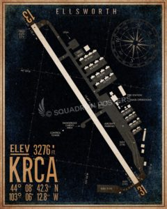 KRCA_ellsworth_airfield_map_diagram_art_SP00891-featured-aircraft-lithograph-vintage-airplane-poster-art
