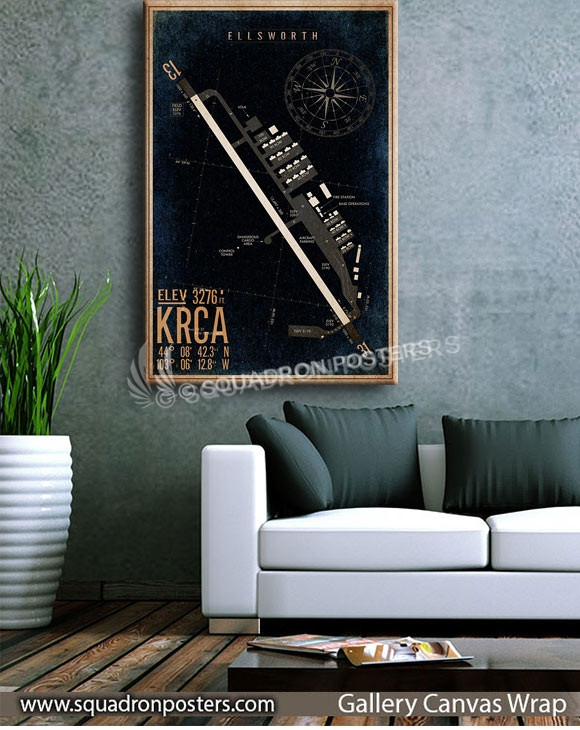 KRCA_ellsworth_airfield_map_diagram_art_SP00891-squadron-posters-vintage-canvas-wrap-aviation-prints