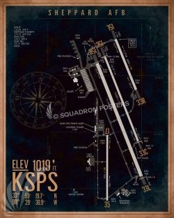KSPS_Sheppard_AFB_Airfield_Art_SP01496-featured-aircraft-lithograph-vintage-airplane-poster-art