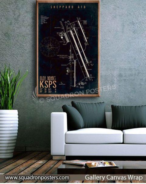 KSPS_Sheppard_AFB_Airfield_Art_SP01496-squadron-posters-vintage-canvas-wrap-aviation-prints