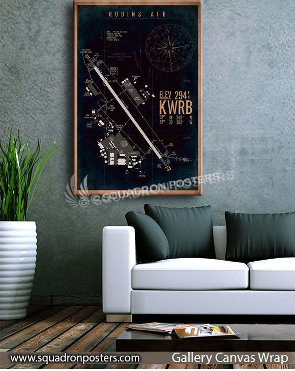 KWRB_Robins_AFB_Airfield_Art_SP01497-squadron-posters-vintage-canvas-wrap-aviation-prints