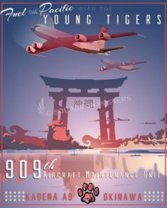 Kadena AB 909th Aircraft Maintenance Unit Kadena_AB_KC-135_909th_AMU_SP01377-featured-aircraft-lithograph-vintage-airplane-poster-art