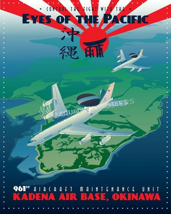 Kadena Ab 961st Aircraft Maintenance Unit Squadron Posters