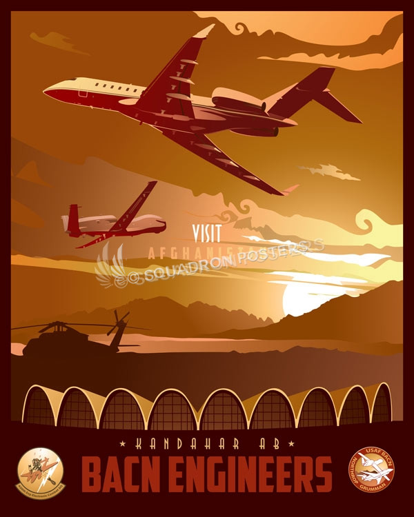 Kandahar Airfield Bacn Engineers Squadron Posters
