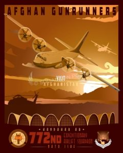 Kandahar Airfield 772 EAS Kandahar_C-130J_772d_AEW_SP01473-featured-aircraft-lithograph-vintage-airplane-poster-art