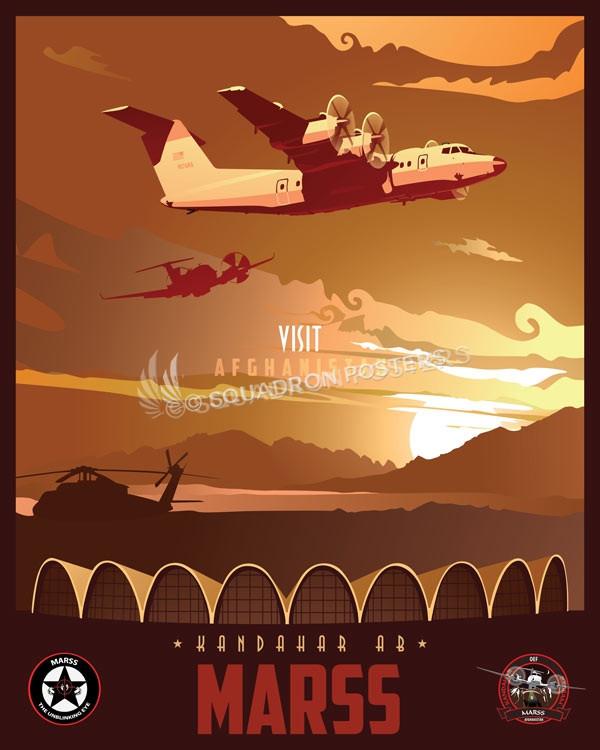 Kandahar Airfield MARSS Kandahar_Dash_7_Marss_SP01274-featured-aircraft-lithograph-vintage-airplane-poster-art