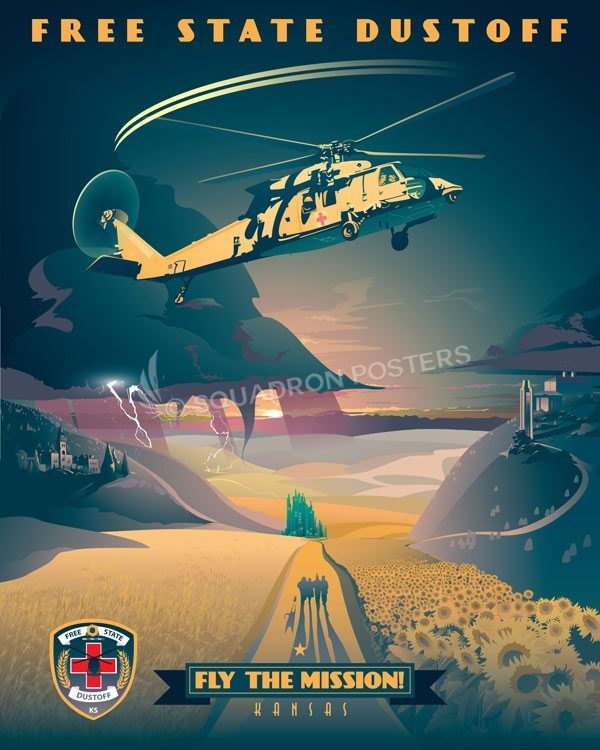 Kansas_UH-60_MEDEVAC_Dustoff_Max_Shirkov_SP01541-featured-aircraft-lithograph-vintage-airplane-poster-art