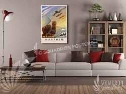 Keep A10 Flying 20x30 SP00596-vintage-military-aviation-canvas-travel-retro