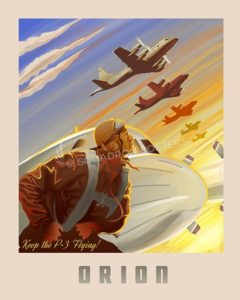 Keep P3 Flying SP00608-vintage-military-aviation-travel-poster-art-print-gift