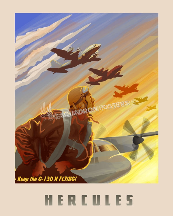 Keep The C-130H Flying SP00664 feature-vintage-print