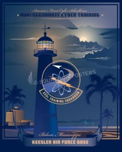 Keesler AFB 333d Training Squadron - Undergraduate Cyber Training Keesler_AFB_333rd_TRS_SP00952-featured-aircraft-lithograph-vintage-airplane-poster-art