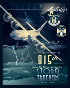 Keesler AFB 815th Weather Reconnaissance Squadron Keesler_AFB_C-130_815_WRS_SP01474-featured-aircraft-lithograph-vintage-airplane-poster-art