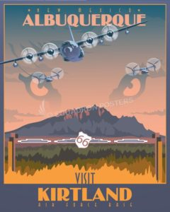 Kirtland AFB 377th Air Base Wing Kirtland_AFB_v2-SP01294-featured-aircraft-lithograph-vintage-airplane-poster-art