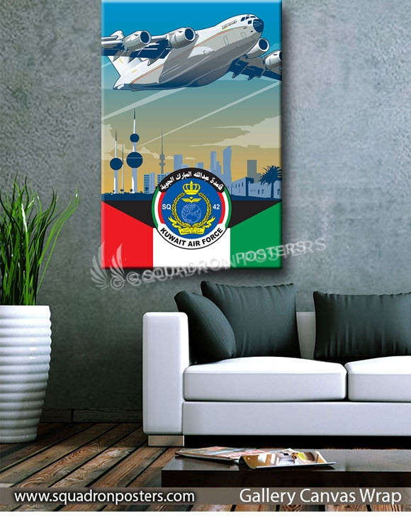 Kuwait_C-17_Air_Force_SP01233-squadron-posters-vintage-canvas-wrap-aviation-prints
