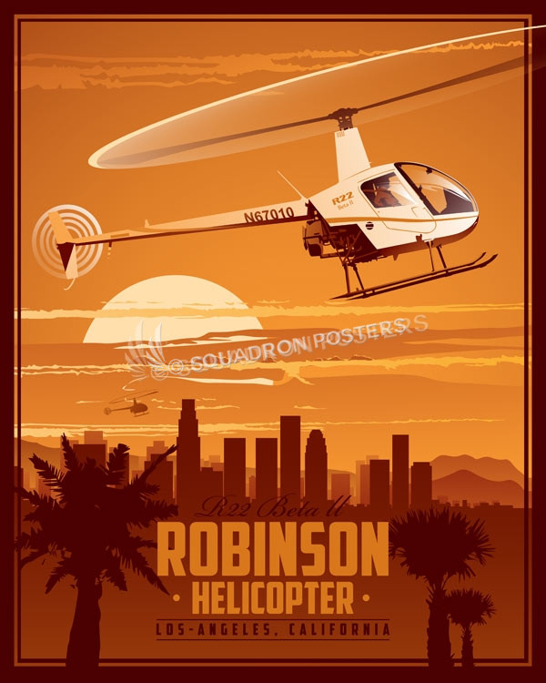 Robinson Helicopter Company Los Angeles Squadron Posters