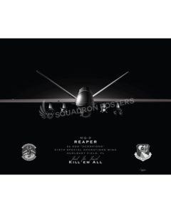 MQ-9 2 SOS Jet Black Lithograph Las Vegas MQ-9 2d SOS SP01466-FEAT-jet-black-aircraft-lithograph