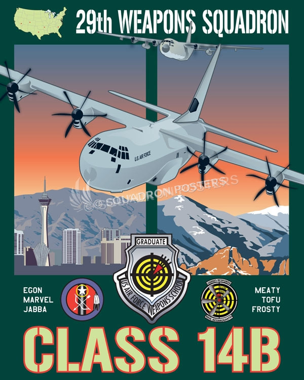 Nellis AFB 29th Weapons Squadron Las_Vegas_C-130H_C-130J_29th_WPS_SP01239-featured-aircraft-lithograph-vintage-airplane-poster-art