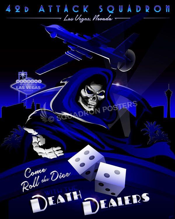 42d Attack Squadron MQ-9 Las_Vegas_Creech_AFB_MQ-9_42d_ATKS_R1_SP01398-featured-aircraft-lithograph-vintage-airplane-poster-art