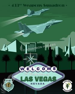 Nellis AFB 433d Weapons Squadron Las_Vegas_F-15_F-22-433d_Weapons_Sq_SP01329-featured-aircraft-lithograph-vintage-airplane-poster-art