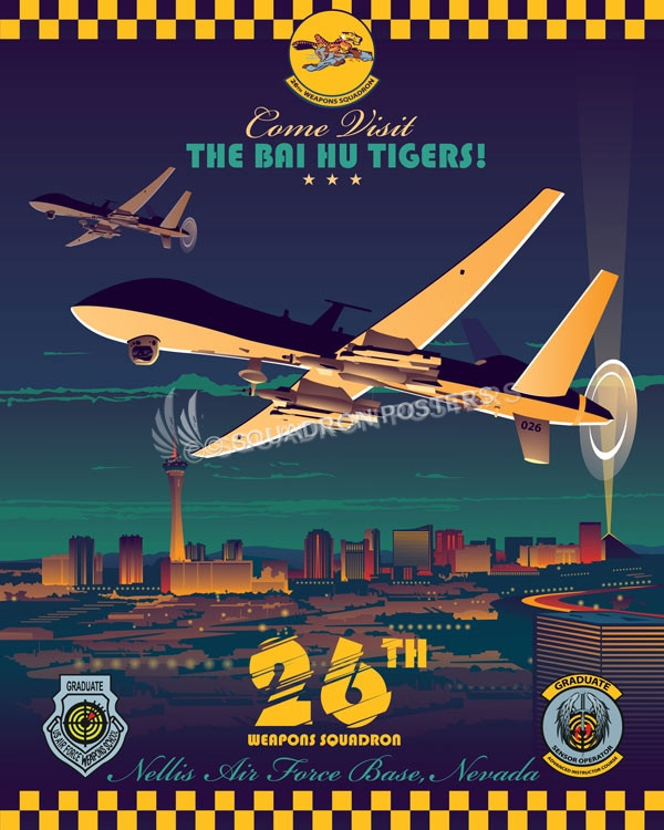 Nellis AFB 26th WPS MQ-9 Reaper las_vegas_mq-1_mq-9_26th_wps_sp01206-featured-aircraft-lithograph-vintage-airplane-poster-art