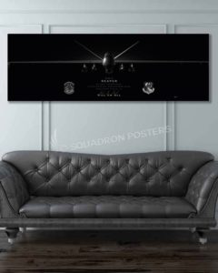MQ-9 2 SOS Jet Black Super Wide Canvas Print Las_Vegas_MQ-9_2d_SOS_60x20_SP01467-military-air-force-aviation-artwork-poster-jet-black-litho