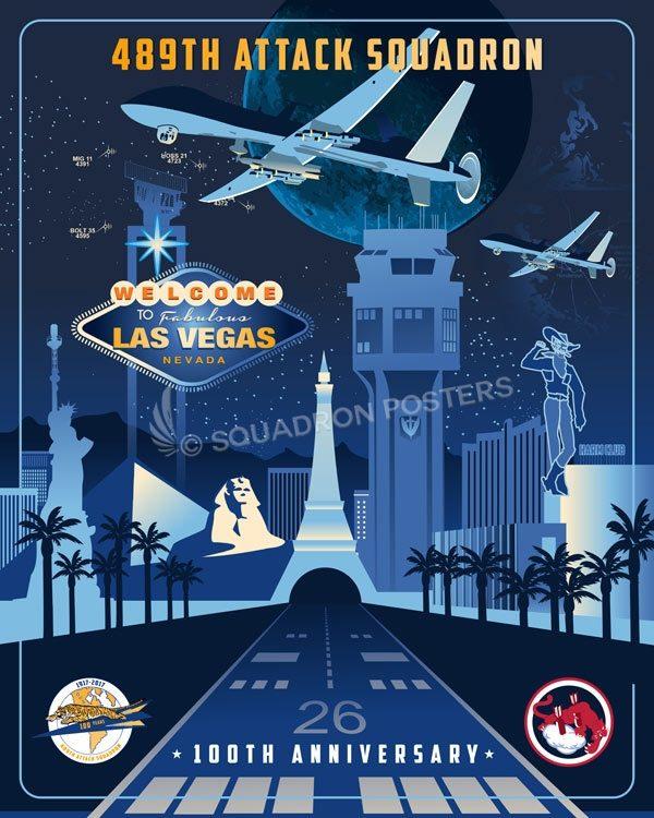 489th Attack Squadron 100th Anniversary Art