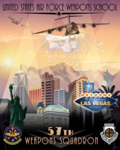 Nellis AFB 57th Weapons Squadron las_vegas_nellis_afb_c-17_57th_wps_sp01141-featured-aircraft-lithograph-vintage-airplane-poster-art