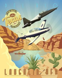 Laughlin DUO T-6 T-38 SP00521-vintage-military-aviation-travel-poster-art-print-gift