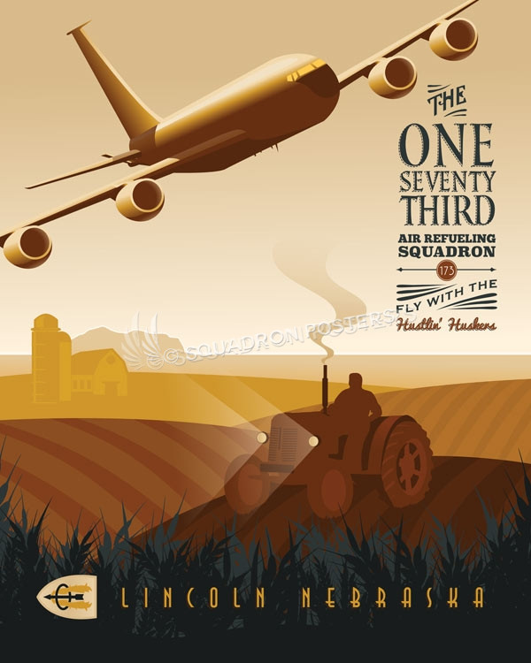 Nebraska ANG 173d Air Refueling Squadron Lincoln_KC-135_173rd_ARS_SP01010-featured-aircraft-lithograph-vintage-airplane-poster-art