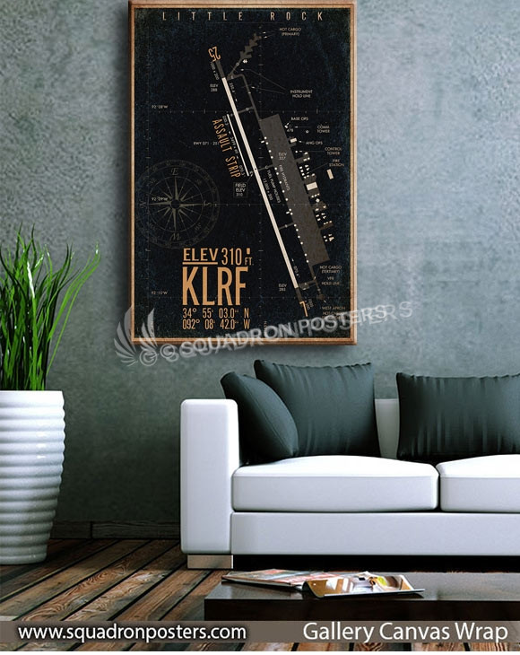 Little_Rock_KLRF_airfield_map-SP00896-squadron-posters-vintage-canvas-wrap-aviation-prints