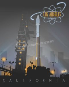 Los Angeles AFB Atlas V-SP01249-featured-aircraft-lithograph-vintage-airplane-poster-art