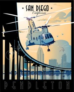 mcb camp pendleton CH-46 SP00570-vintage-military-aviation-travel-poster-art-print-gift
