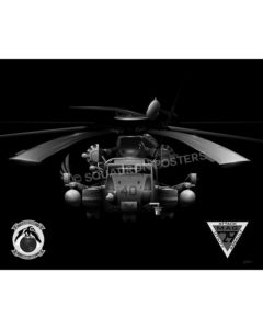 CH-53E HMH-464 Jet Black Lithograph MCAS New River HMH-464 CH-53E Jet Black SP01335-FEAT-jet-black-aircraft-lithograph-art