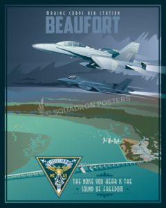 MCAS_Beaufort_F-35_F-18_SP00767-featured-aircraft-lithograph-vintage-airplane-poster-art