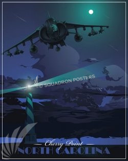 MCAS Cherry Point AV-8B MCAS_Cherry_Point_AV-8B_GENERIC_SP01477-featured-aircraft-lithograph-vintage-airplane-poster-art