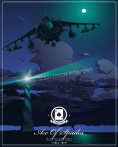 MCAS Cherry Point AV-8B VMA-231 MCAS_Cherry_Point_AV-8B_VMA-231_SP01478-featured-aircraft-lithograph-vintage-airplane-poster-art