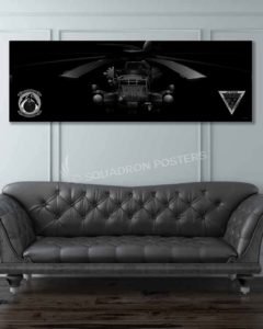 CH-53E HMH-464 Jet Black Super Wide Canvas Print