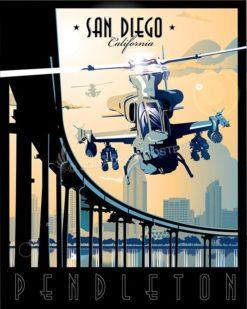 MCB Pendleton AH-1W SP00571-vintage-military-aviation-travel-poster-art-print-gift