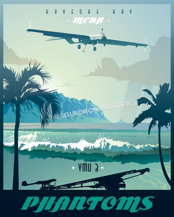 Marine Corps Base Hawaii Vmu 3 Rq 7b Squadron Posters