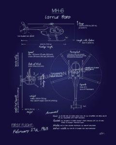 MH-6_Little_Bird_Blueprint_SP00933-featured-aircraft-lithograph-vintage-airplane-poster-art