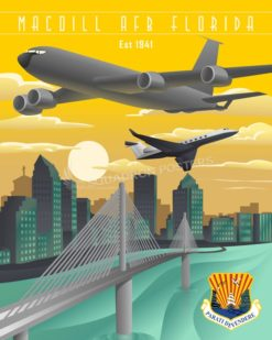 MacDill AFB 6th AMW KC-135 MacDill_KC-135_C-37_6_AMW_SP01451-featured-aircraft-lithograph-vintage-airplane-poster-art
