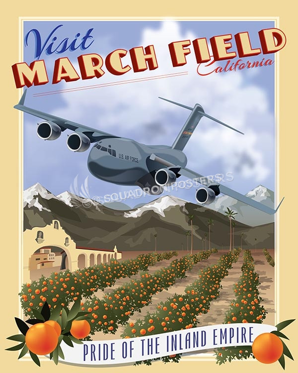 March Field C17 16x20 SP00517-vintage-military-aviation-travel-poster-art-print-gift