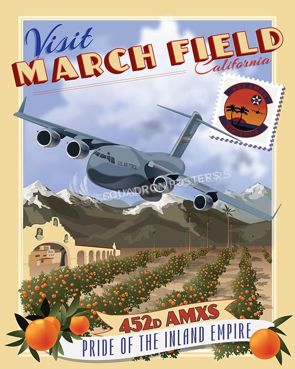 March Field C17 452 AMXS V2 16x20 SP00516-vintage-military-aviation-travel-poster-art-print-gift