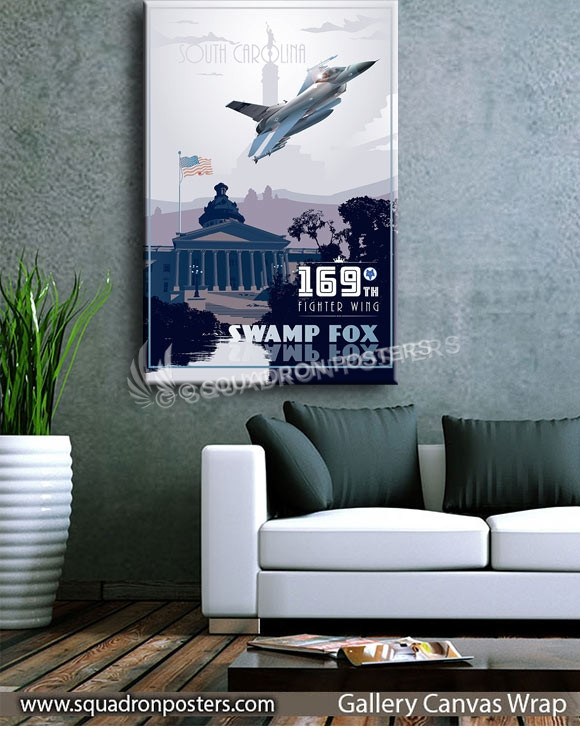 McEntire-Joint-National-Guard-Base_F-16_169th_FW_v2-SP01240-squadron-posters-vintage-canvas-wrap-aviation-prints