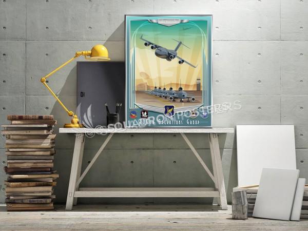 McGuire C-17 KC-10 305th OG SP00707 canvas-vintage-retro-print