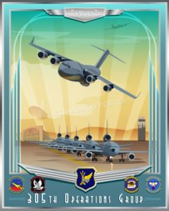 McGuire C-17 KC-10 305th OG SP00707 feature-vintage-print