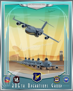 McGuire C-17 KC-10 305th OG SP00707 feature-vintage-print